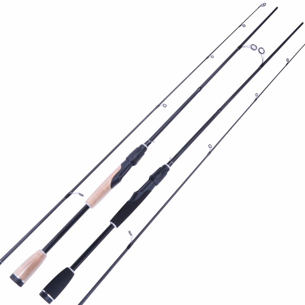 Fishing Spinning Rod 1.95M/2.10M 2 Pieces Fishing Rod Lure Weight 1/8-3/8OZ Spinning Rod