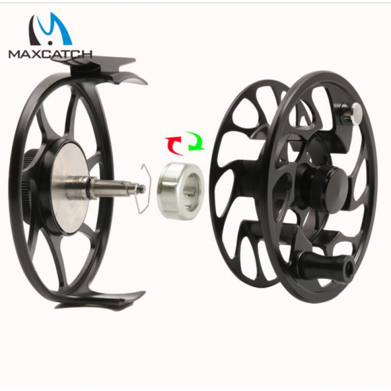 CNC Machine Cut 06N Large Arbor Aluminum Fly Reel