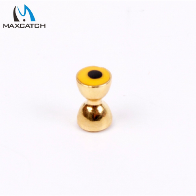 Fly Fishing Brass Dumbell With Eyes Gold 4.0MM/4.8MM Fly Tying Beads 25Pcs Per Lot