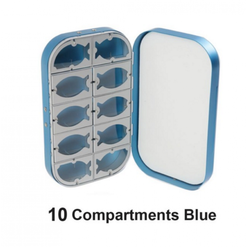 10 Compartments Blue -$5.00