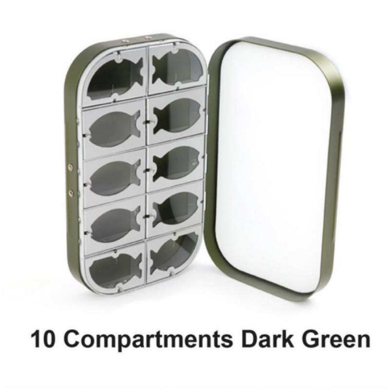 10 Compartments Dark Green -$5.00