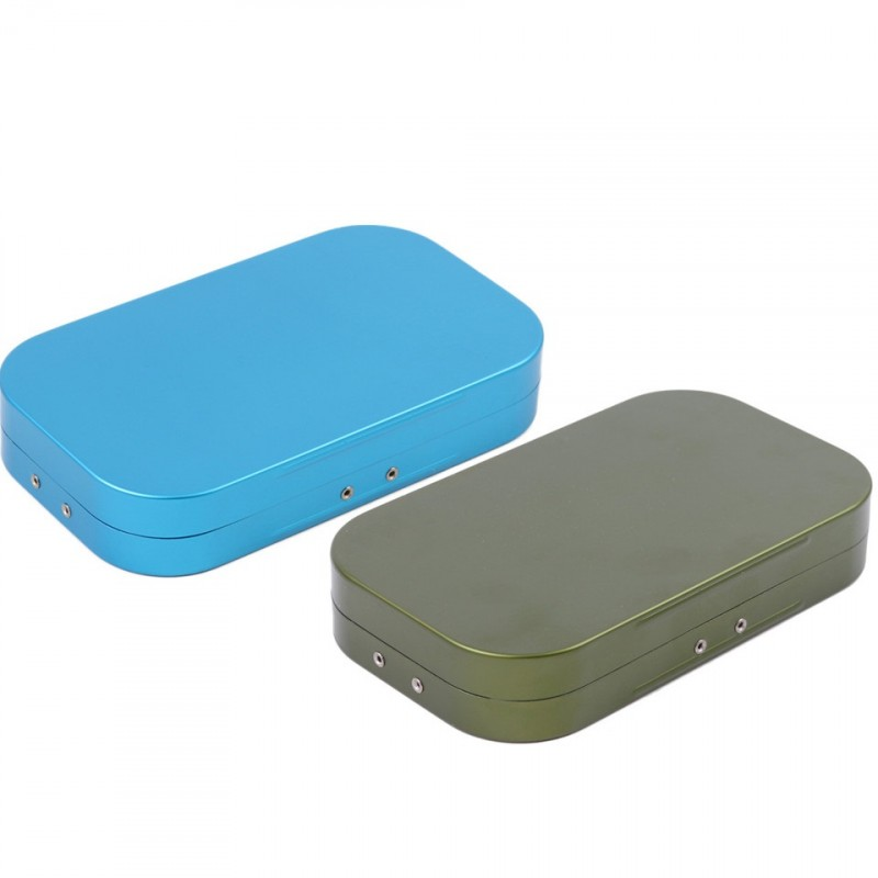 10 Compartments Aluminum Fly Fishing Box