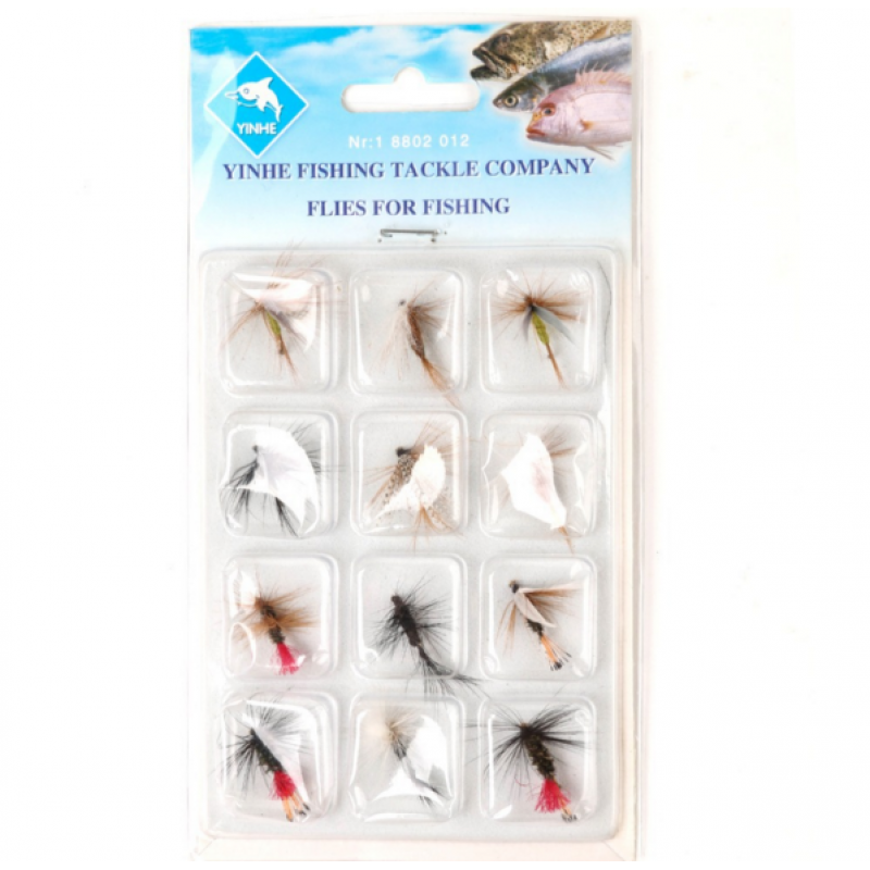 12 Pieces Dry Flies Economic Fly Selection Fly Fishing Lures