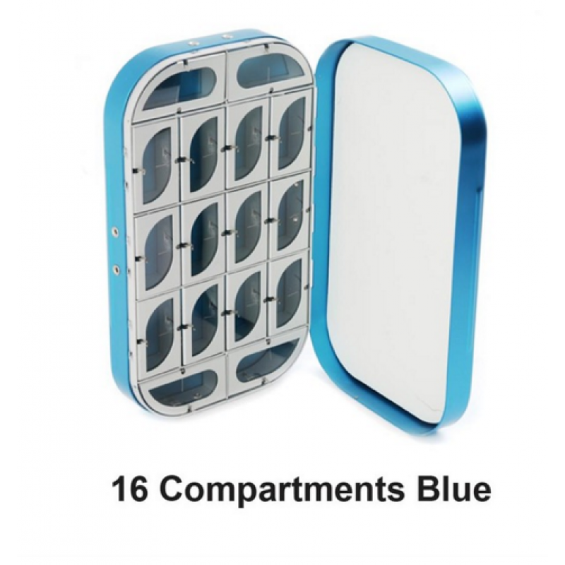 16 Compartments Blue