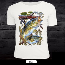 Fish Pattern T-Shirt for Fishing 001