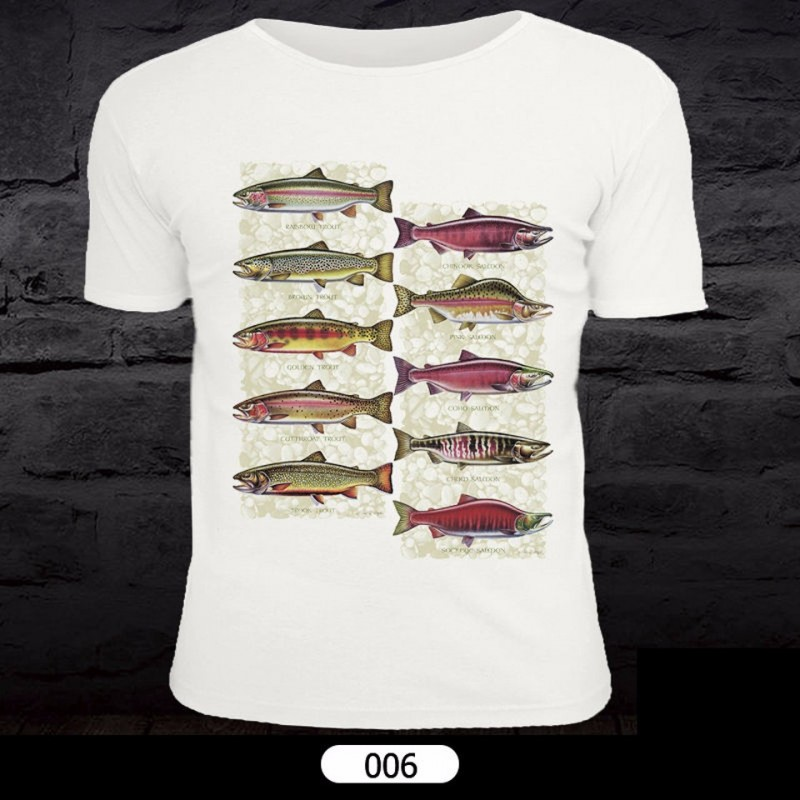 Fish Pattern T-Shirt for Fishing 006