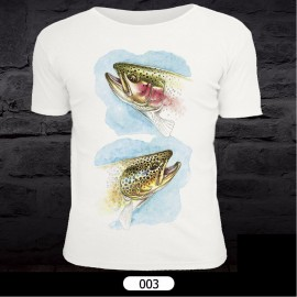 Fish Pattern T-Shirt for Fishing 003