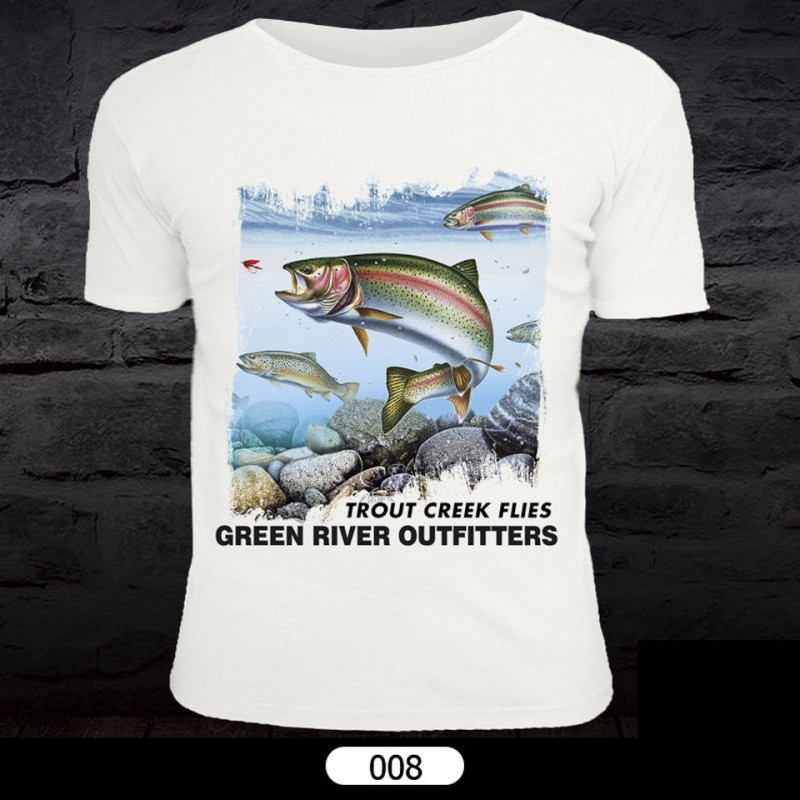 Fish Pattern T-Shirt for Fishing 008
