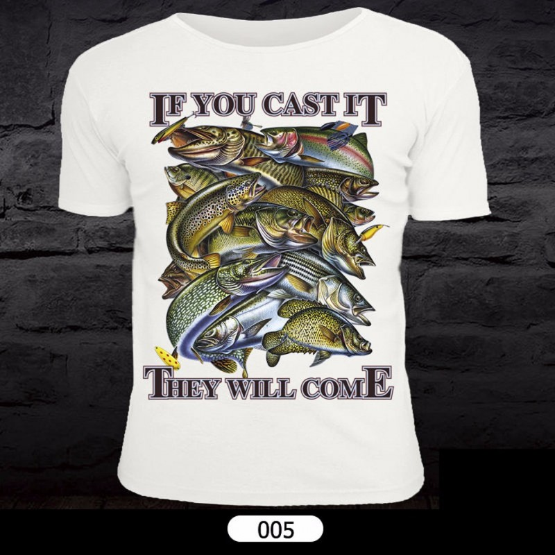 Fish Pattern T-Shirt for Fishing 005