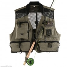 Super Light Breathable Mesh Vest For Fishing & Hiking Mutil-pocket -- Free Size