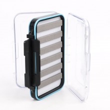 "Waterproof Double Clear Lid Slit Foam Fly Fishing Box(5.8"" × 3.5"" × 1.6"")"