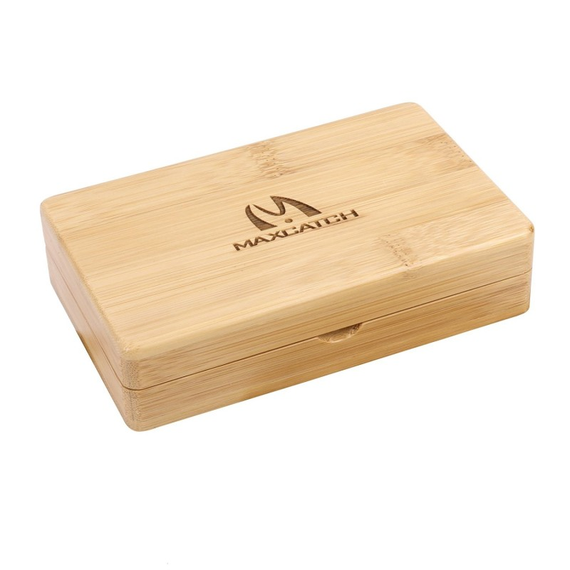 Bamboo Fly Fishing Box for Tenkara Flies(5.5'' x 3.5'' x 1.3'')