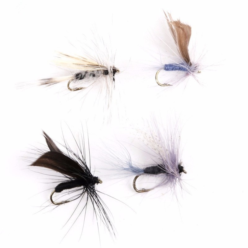 Fly Fishing Dry Flies #14 Assortment 8 Patterns Deluxe Kit