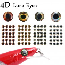 24-112pcs 6 Sizes Fly Tying 4D Fishing Lure Realistic Artificial Fishing Eyes