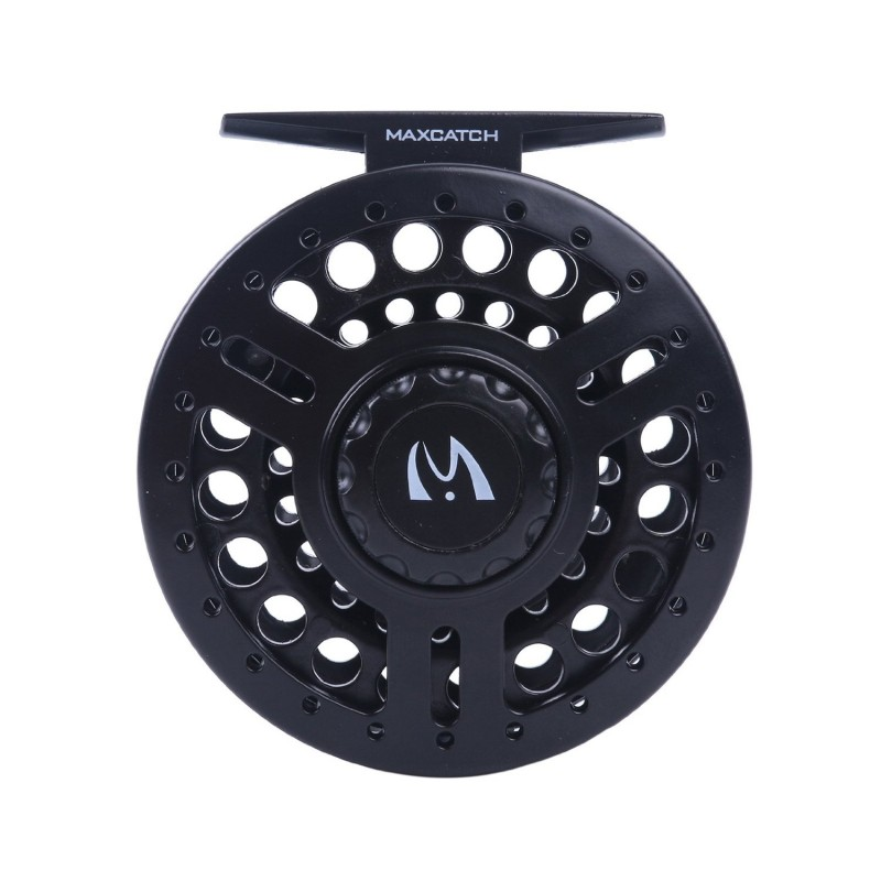 New Starter Fly Reel Large Arbor Black Lightweight Polymeric Body