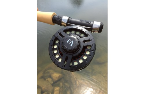 Explorer Fly Reel Large Arbor Black Lightweight Polymeric Body
