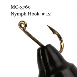500 Pieces MC-3769 Size 12 Fly Tying Hook Nymph Hook Nymph Fly Fishing Hook