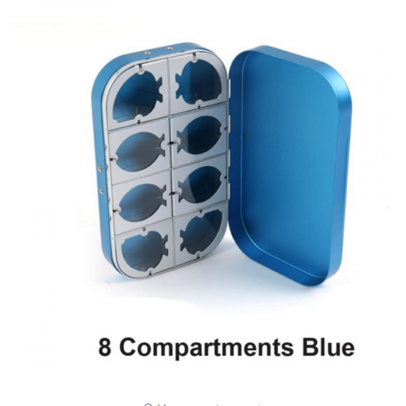 8 Compartments Blue -$7.00