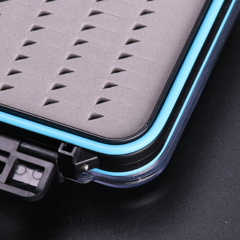 "Waterproof Double Clear Lid Easy Grip Foam Fly Fishing Box(4.8"" × 3.5"" × 1.6"")"