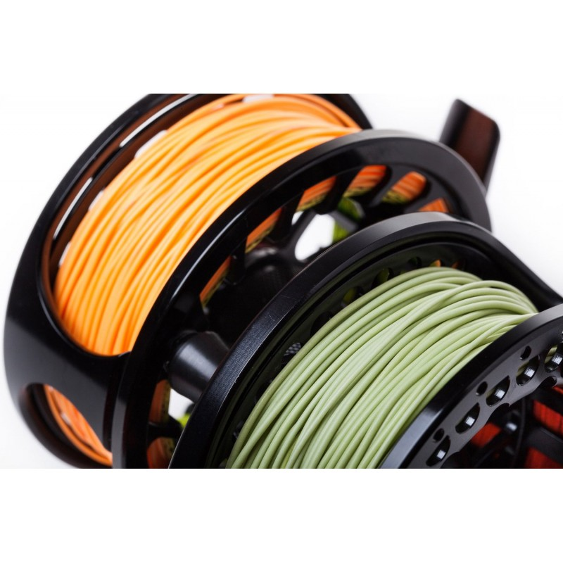 Double Taper Floating Fly Fishing Line (100ft, moss green, orange)