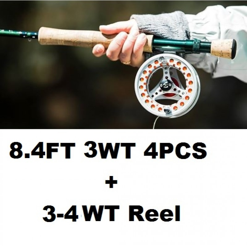 8.4FT 3WT 4PCS+3-4WT Reel