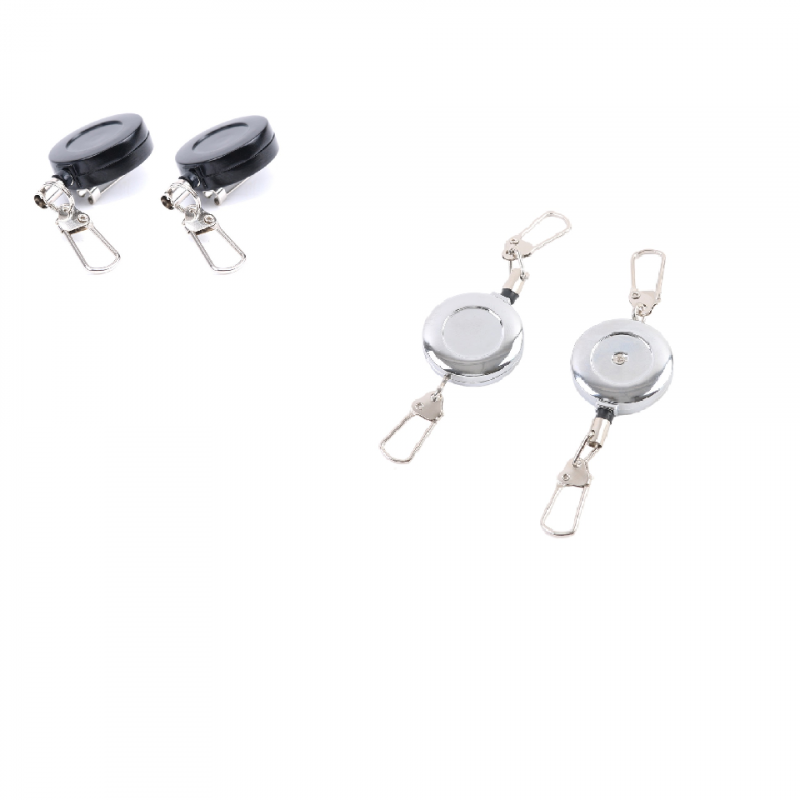 2pcs/Lot AD010 B Fly Fishing Accessory Durable Black Fishing Zinger Retractor For more pleasure