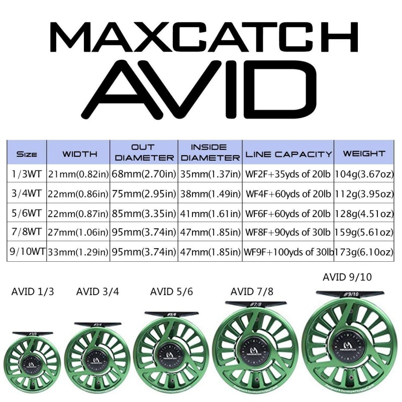 AVID Micro Adjusting Drag Smooth Machined Reel