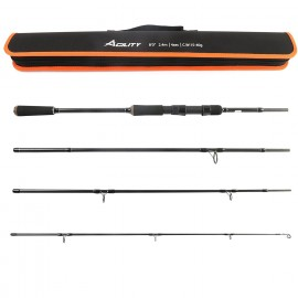 Agility Travel Spinning Rod, 4-Piece Spinning Fishing Rod, 8'0'' 15-40g