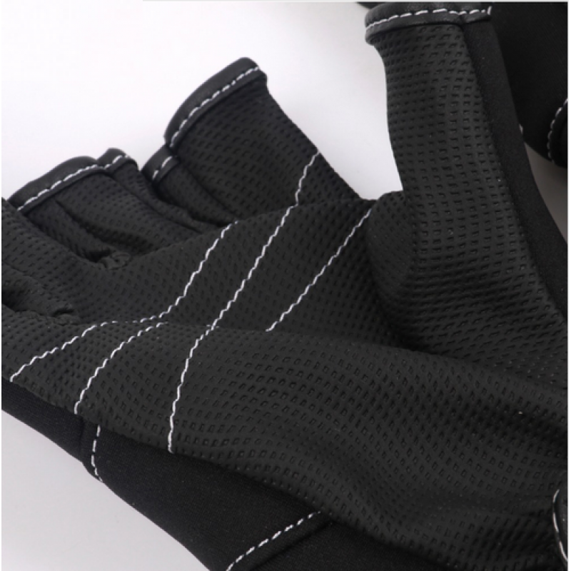 Anti Slip Fishing Gloves 3 Cut Finger Gloves Outdoor Sports Slip-resistant Fishing Gloves