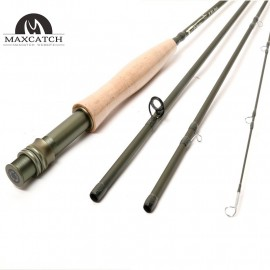 Army Green V-explorer Fly Fishing Rod 9FT 4PCS SK Carbon Fiber Fly Rod