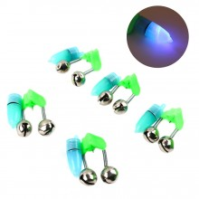 5 Pcs LED Light Noctilucent With 2 Bells Fishing Bite Alarm