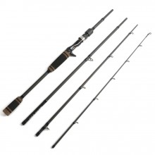 7' Black Star Lure Casting Fishing Rod Line 8-17lbs Lure 7-17g Portable Travel Fishing Rod Casting Graphite Rod 4pc