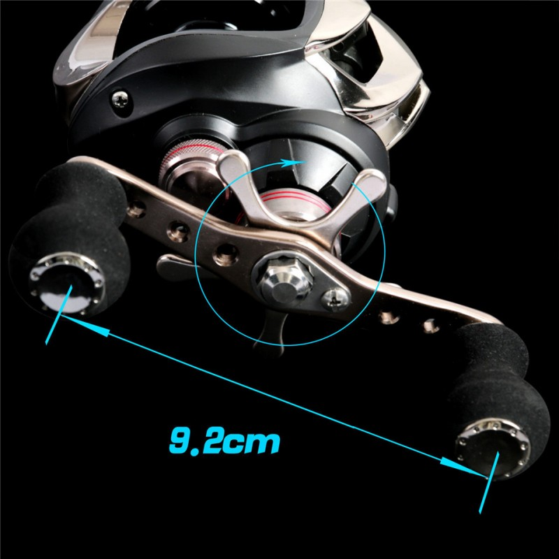 Gear ratio 6.3:1 , 10+1BB Bait casting fishing reel LEFT HAND Fishing Reel BAIT CASTING REEL