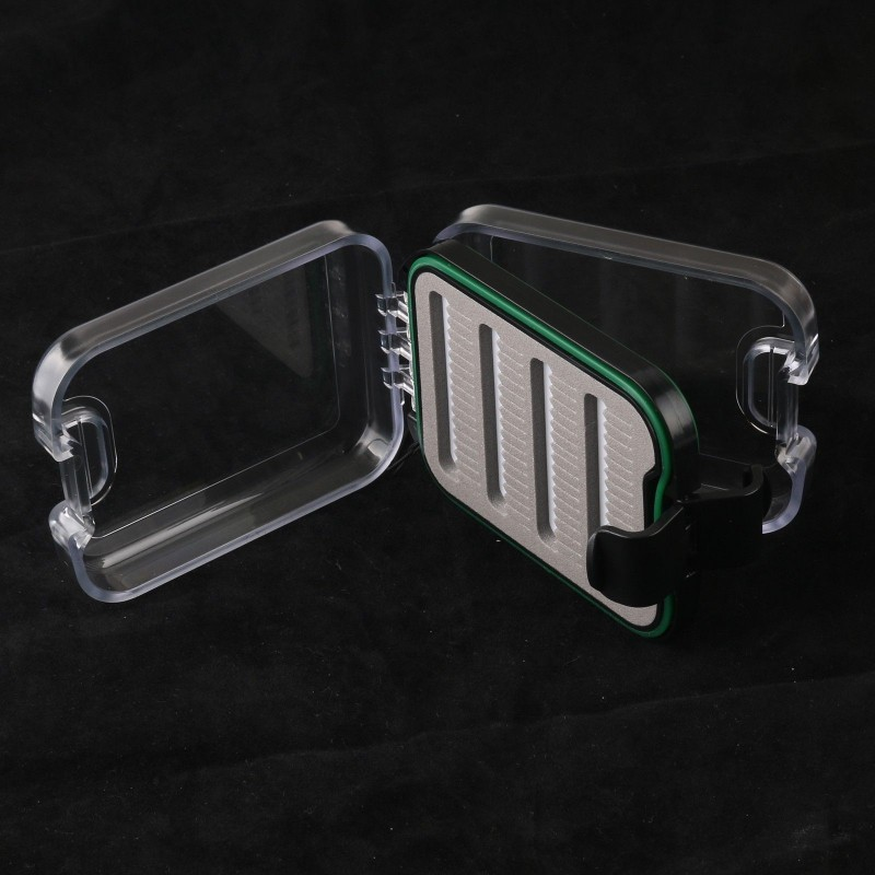 Pocket Waterproof Plastic Slit Foam Fly Fishing Box Fly Box With Lanyard