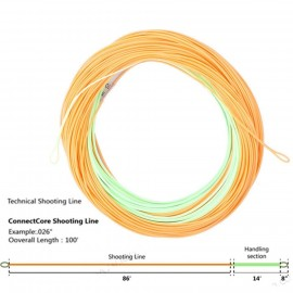 ConnectCore 20LB Shooting linePaleGreen/Orange