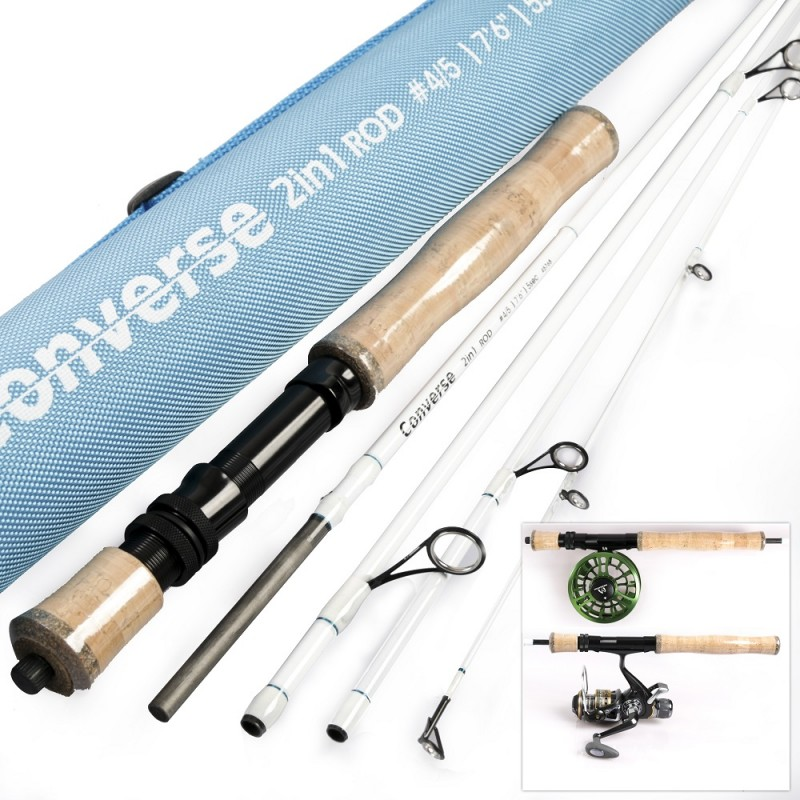 Converse Fly/Spin Travel Rod, 2in1 Fly-Spin