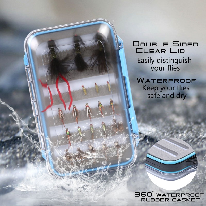 "Size A Double-Sided Slit Foam Fly Fishing Box (4.2"" x 3"" x 1.3"")"
