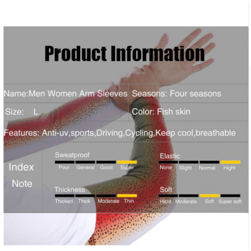 Maxcatch Lightweight Breathble Arm Sleeve Windproof 100% Anti-UV Arm Sleeve Fishskin Quick Drying Elbow Support