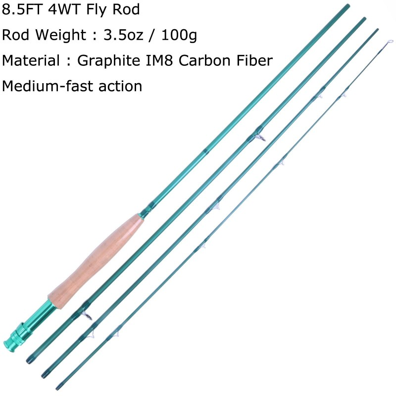 [Chairty]8.6FT 4WT 4PCS Fly Rod Medium-fast Fly Fishing Rod