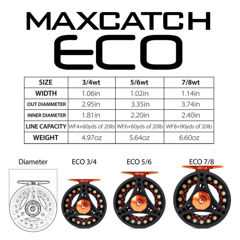 Frosted Black Pre-Loaded ECO Reel
