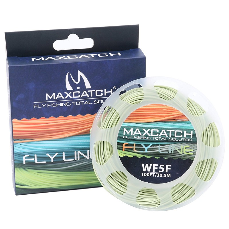 Weight Forward Floating 100FT Fly Line With Loops With Box and Line Spool