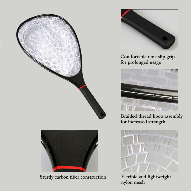 Cheetah Black Carbon Durable Landing Net