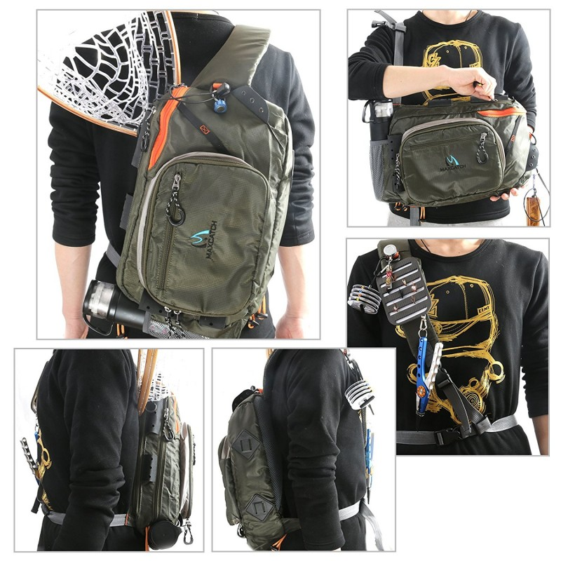 Adjustable Nylon Fishing sling pack