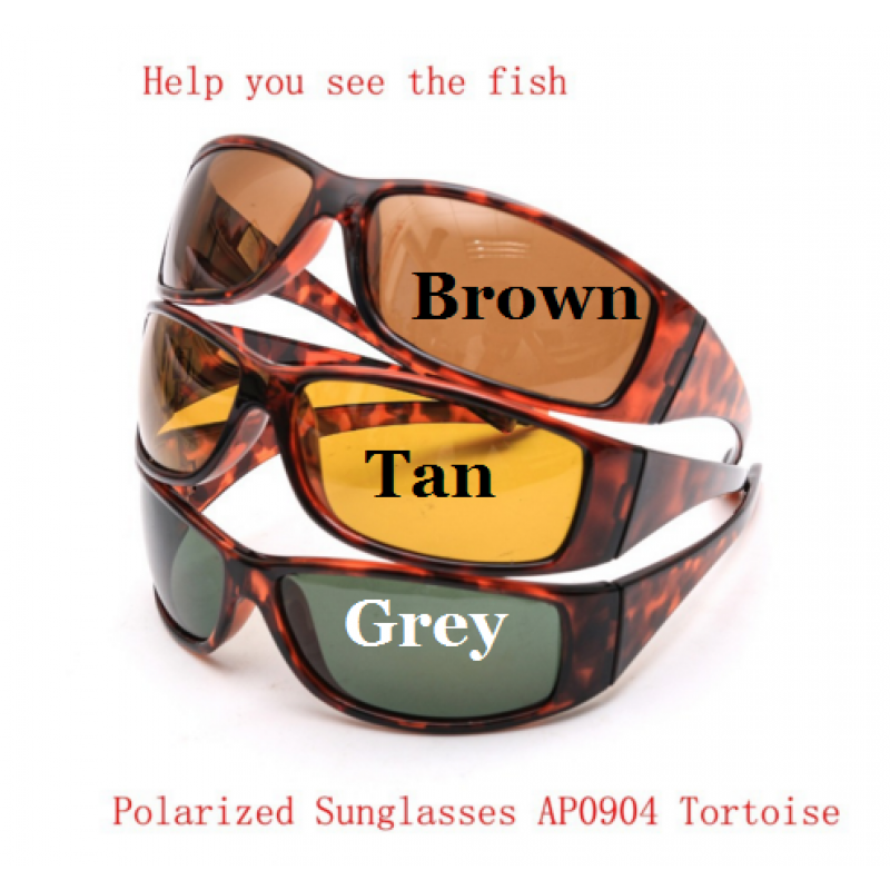 743b9113ed9 Tortoise Frame Fly Fishing Polarized Sunglasses Brown Yellow And ...