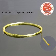 9ft/15ft 3X-6X Flat Butt Leader Fully Clear or Yellow With Clear Tip Fly Fishing Leader Line