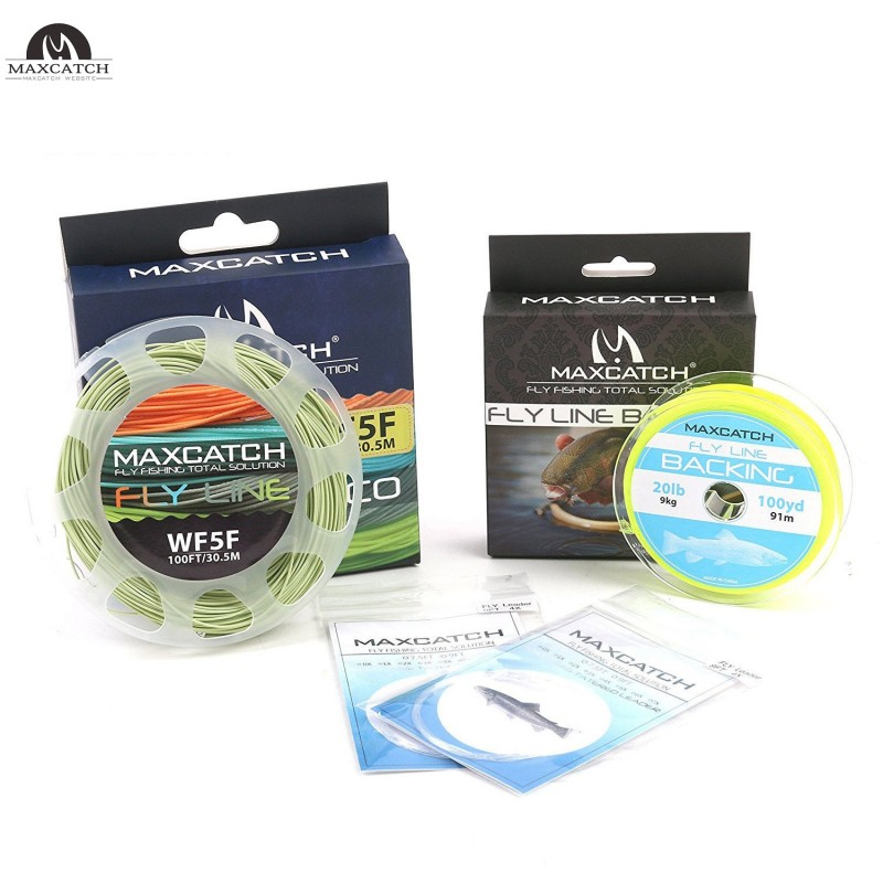 Floating Fly Line Combo WF 2/3/4/5/6/7/8F Fly Fishing Line & Backing & Leader