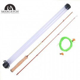 Fly Rod 4.2FT 2 Pieces Fishing Practice Rod with Fly Line for New Starter