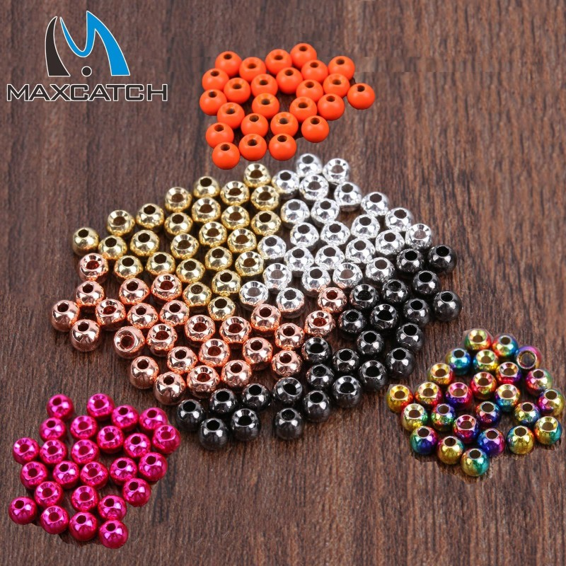 Angelsport-Artikel Angelsport-Fliegen-Bindematerialien 1000 Copper Color Tungsten Fly Tying Beads Assorted Sizes B