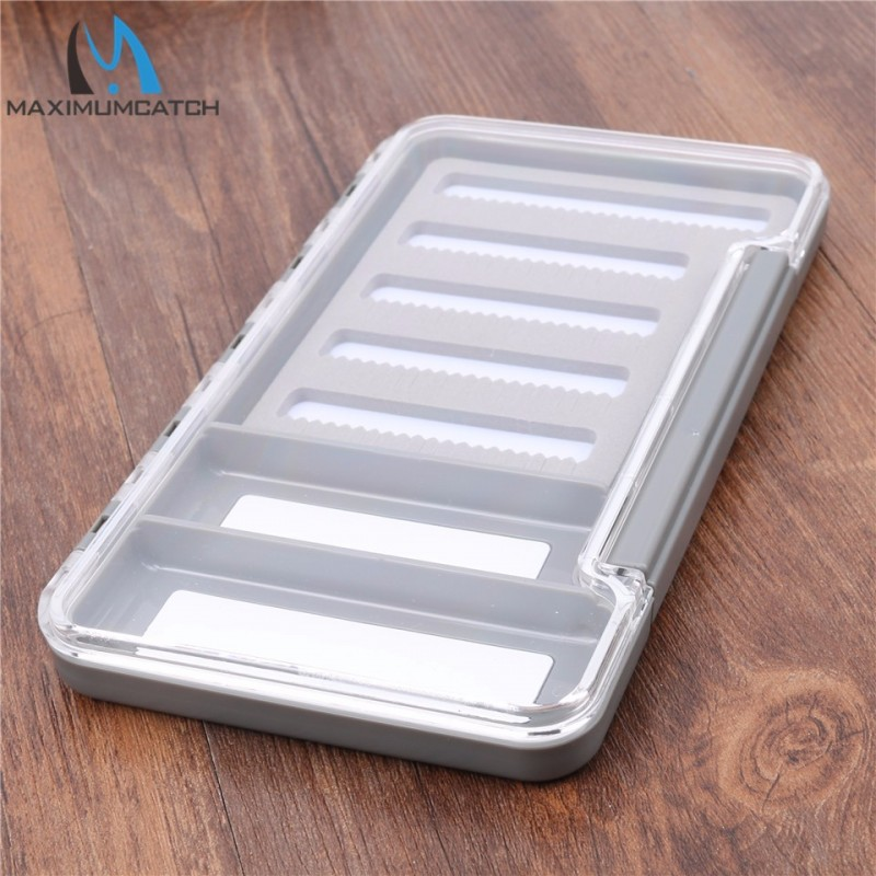 2 Compartments New Waterproof Fly Box with Slit Foam Fly Fishing Tackle Box Keeping Flies and Hooks