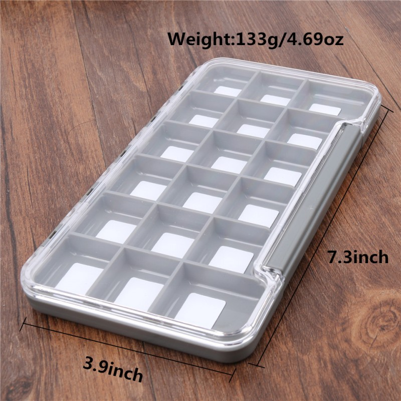 1pc 6/12/18 Compartments Slim Fly Box New Waterproof Fly Fishing Tackle Box Keeping Flies and Hooks